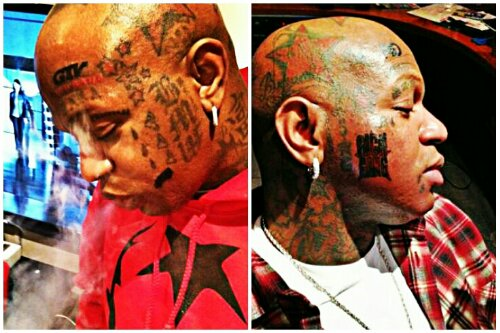 Birdman gets new face tattoo gossip grind