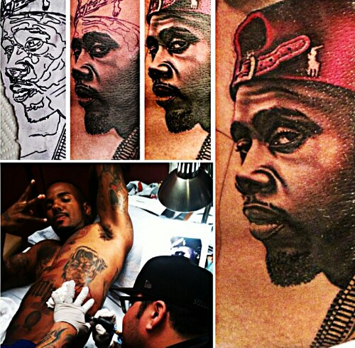 The game gets lil frogg 39 s face tattooed on his ribs for The game tattoos