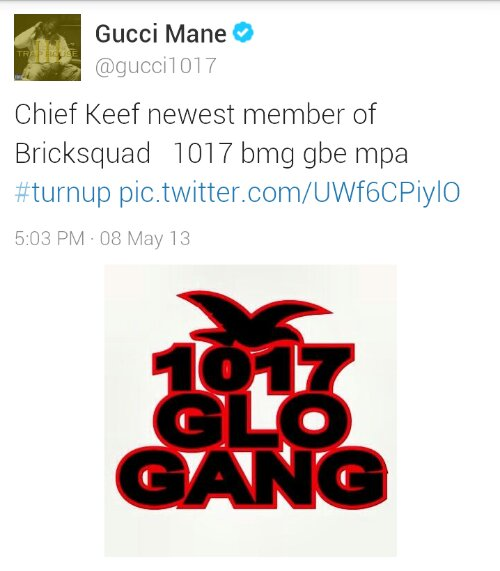 Chief Keef Joins Gucci Mane's Brick Squad